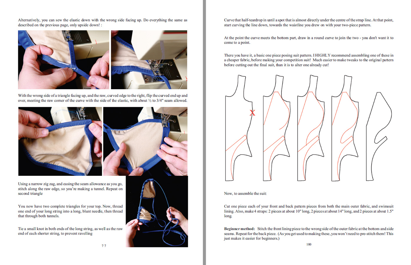 A scan of two sample instruction pages from Fitness & Bodybuilding.