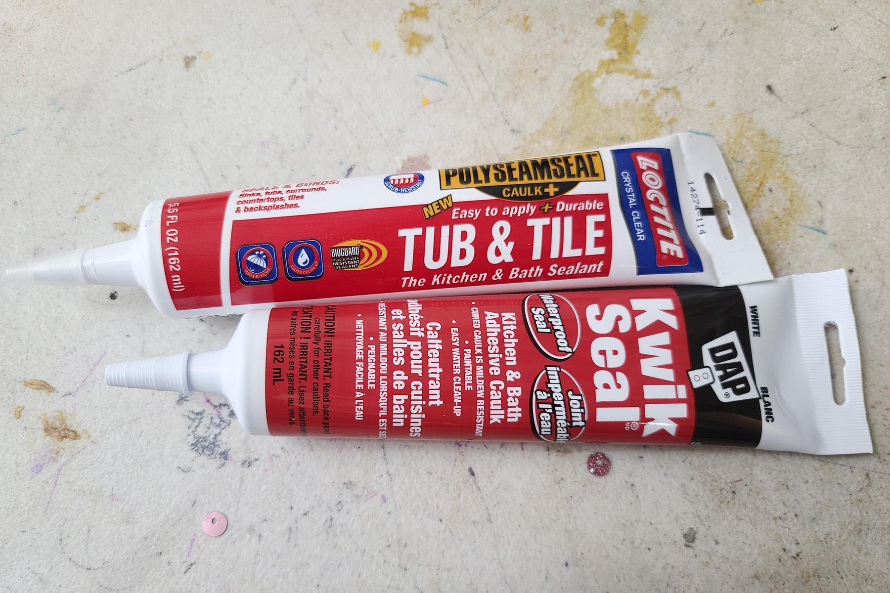 2 tubes of caulking.