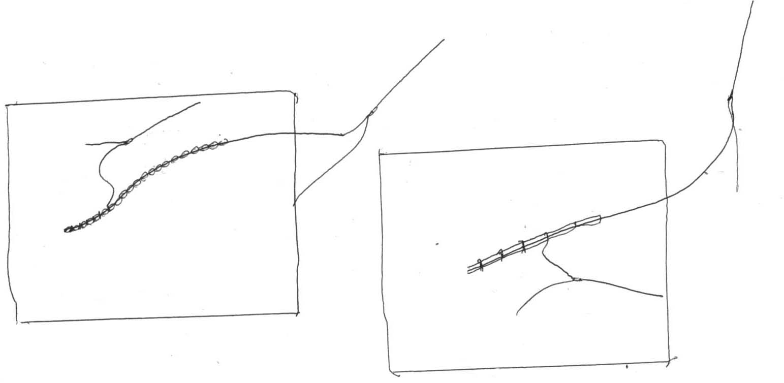 A rough sketched diagram demonstrating the technique described.