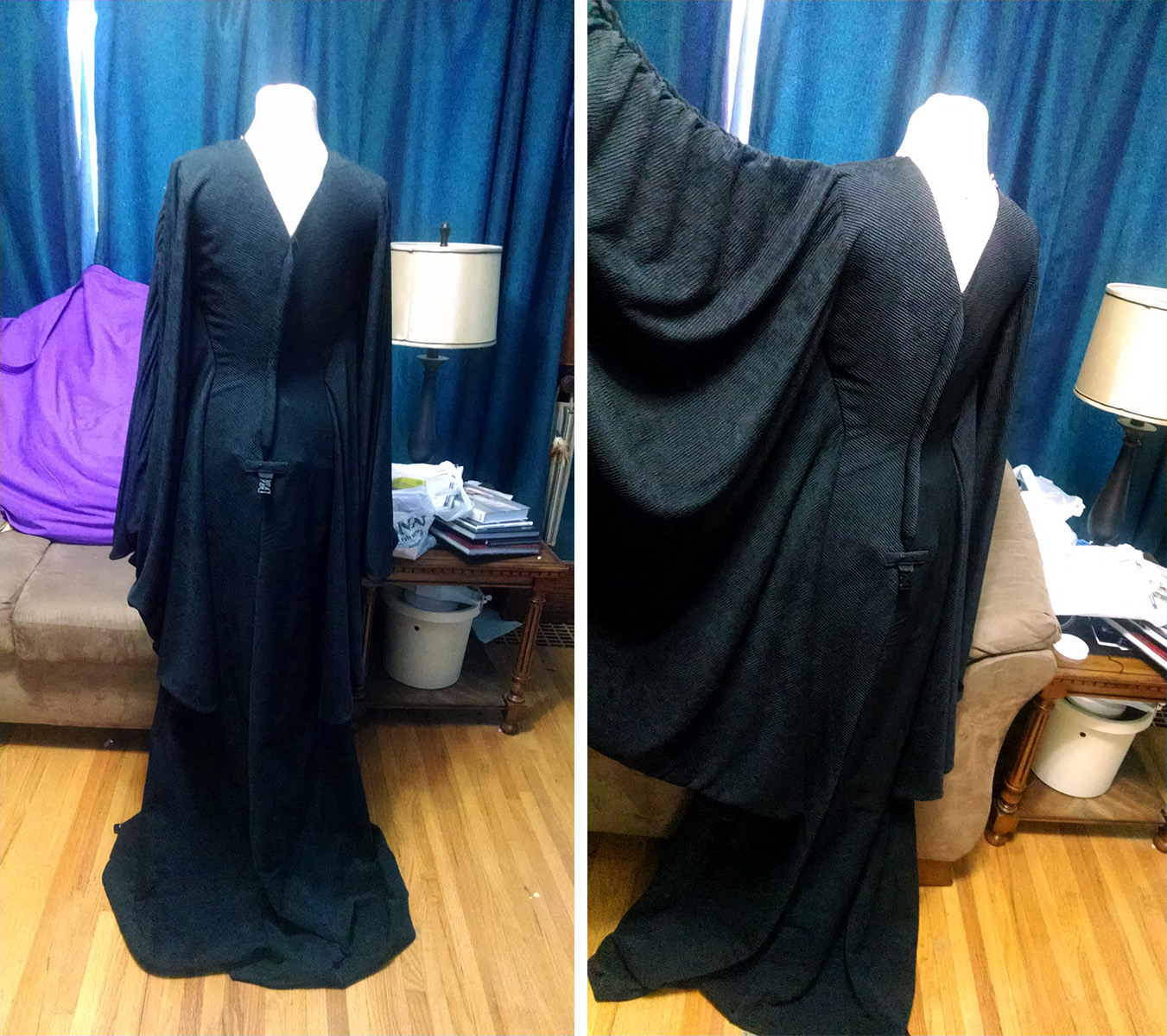 Maleficent's Gown on a dress form.