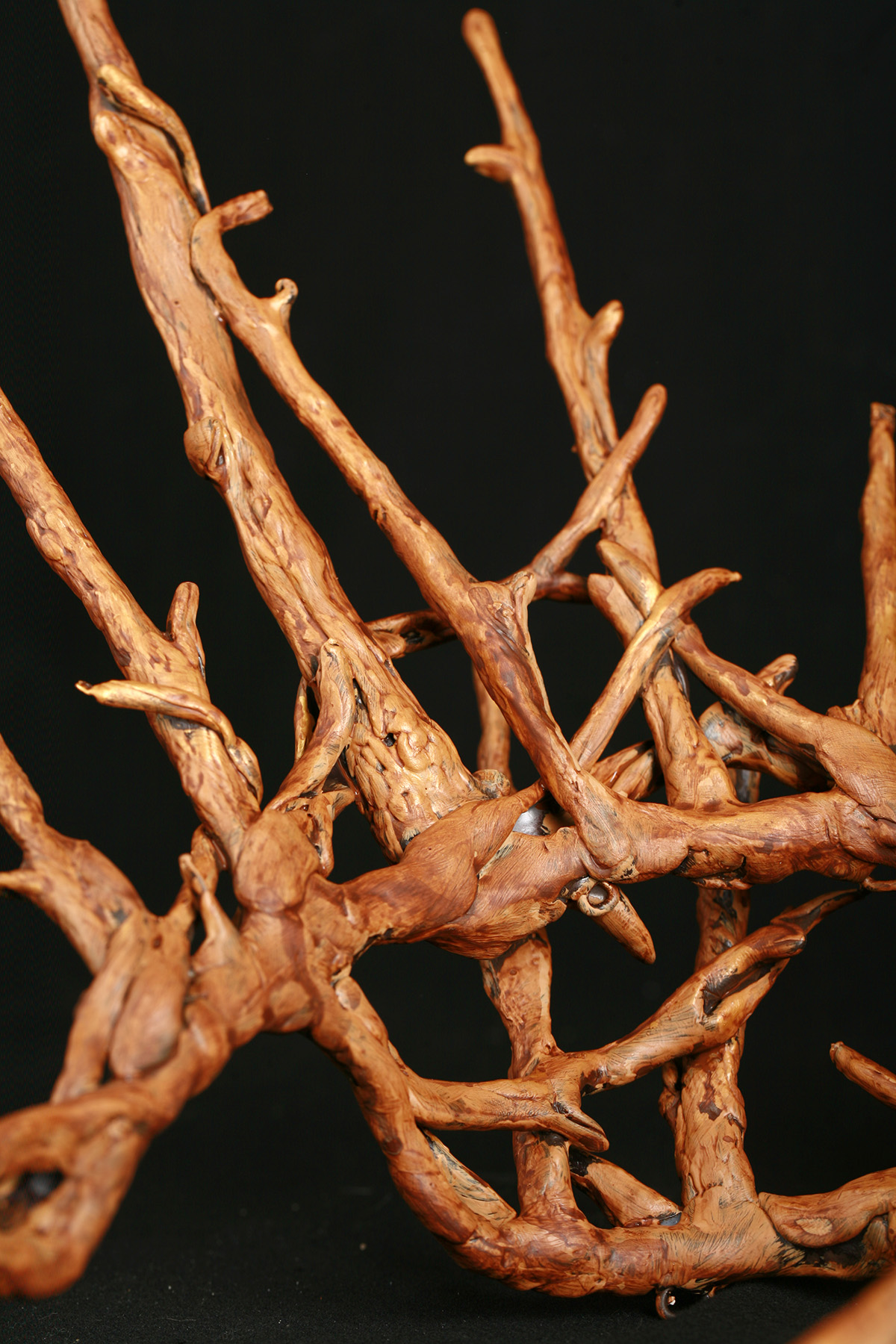 A plastic replica of Thranduil's crown, painted to look realistically like wooden twigs.