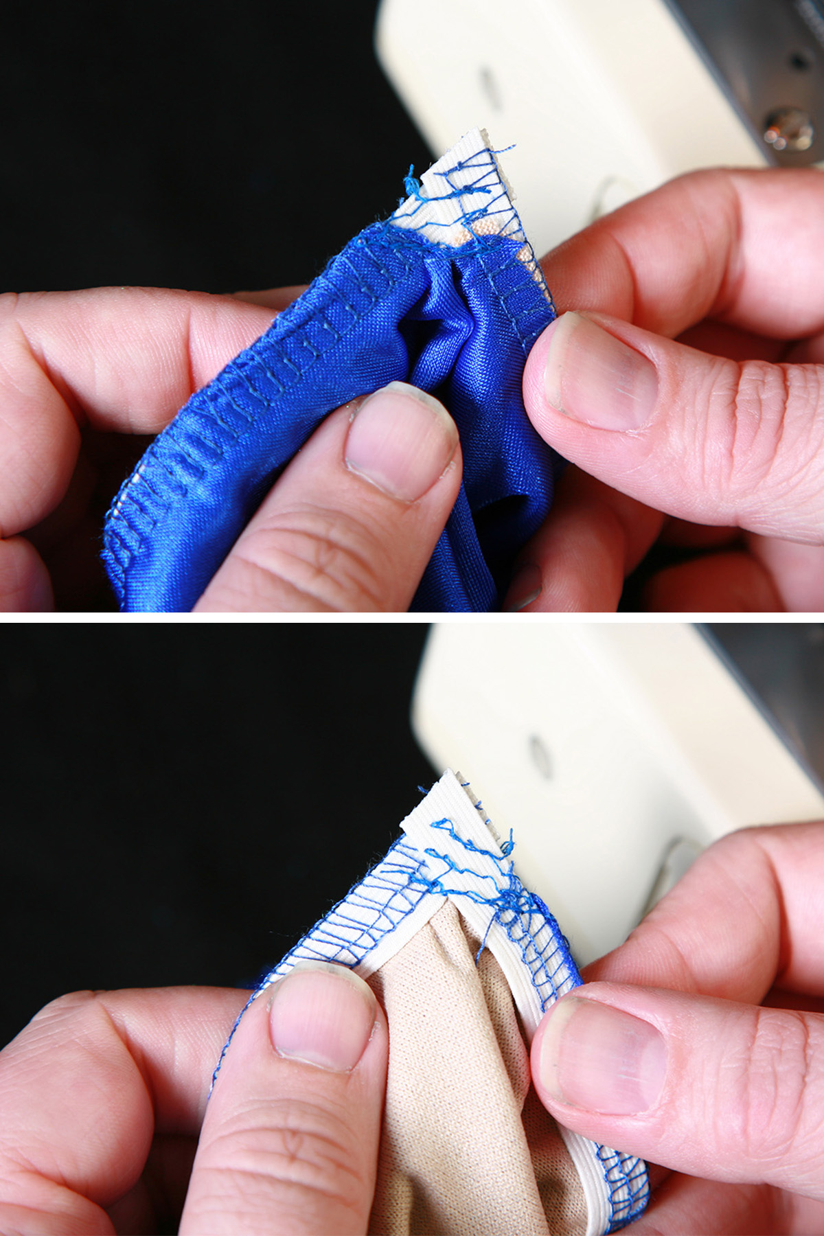 Elastic is being applied to the V, as described in the tutorial.